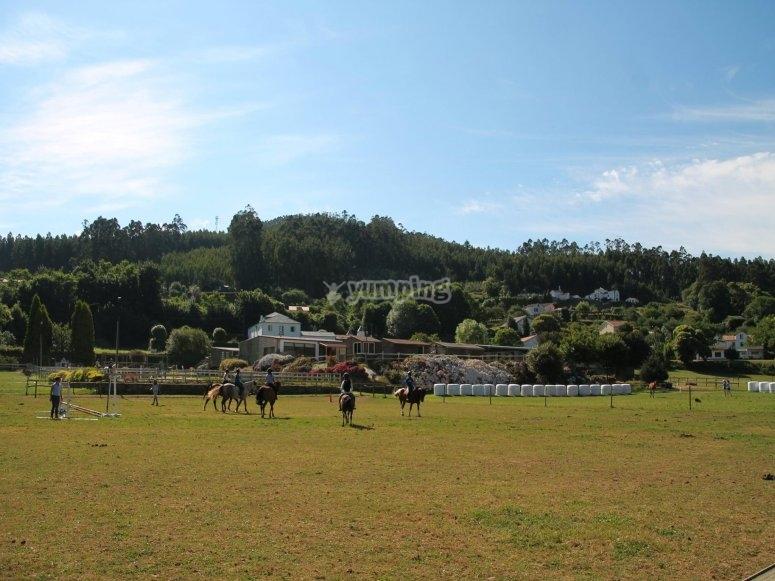 Tour a caballo por campo A Coruña