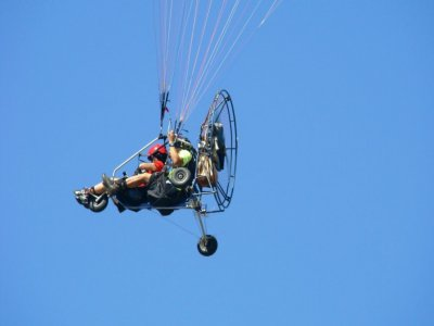 Tandem paramotor flight 20 minutes in Valderas