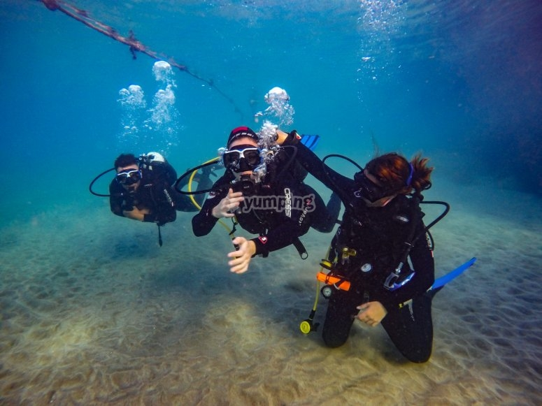 Bautismo de buceo Tenerife con monitor