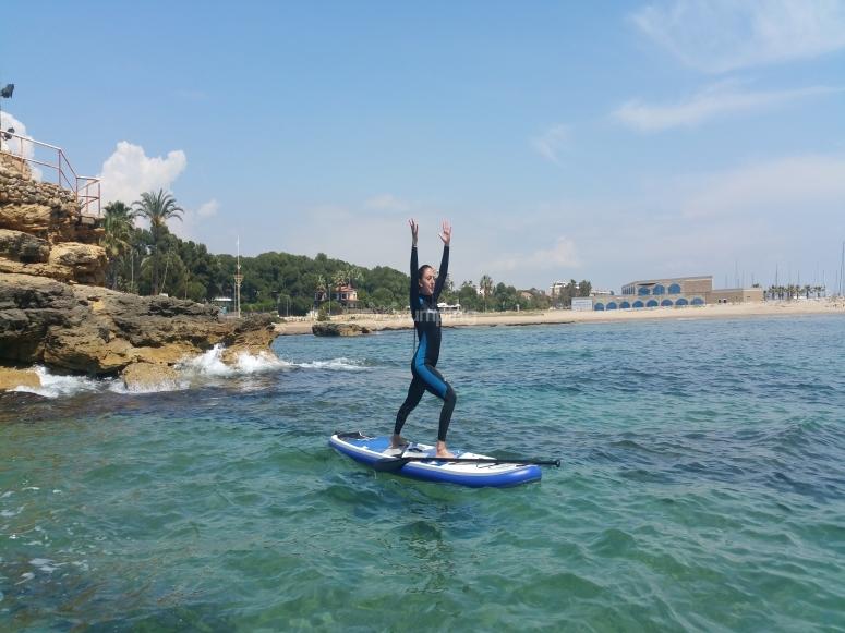 Paddle surf excursion along Costa Dorada
