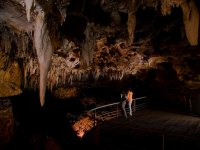 Mirador en el interior de la cueva