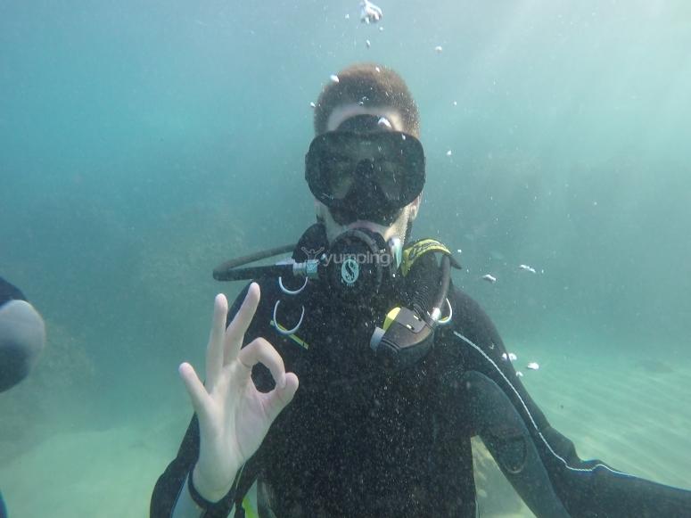 Buceando en el Mediterráneo