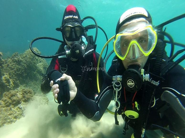 Inmersión en mar abierto playa Tarragona