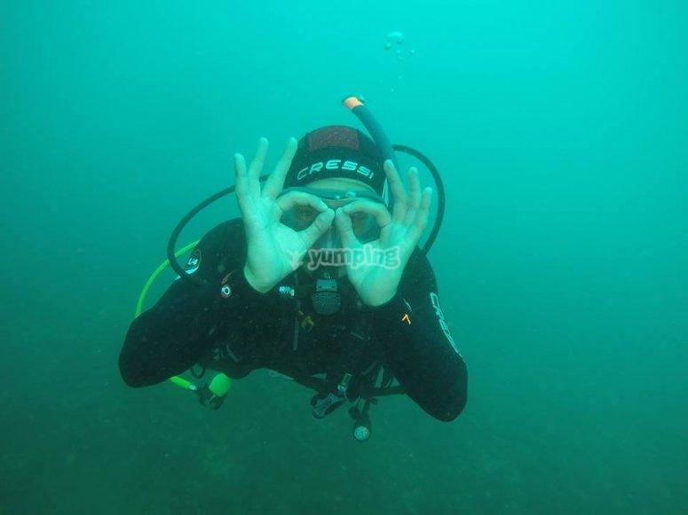 在马拉加潜水