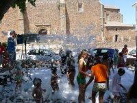Fiesta de la espuma en Ciudad Real