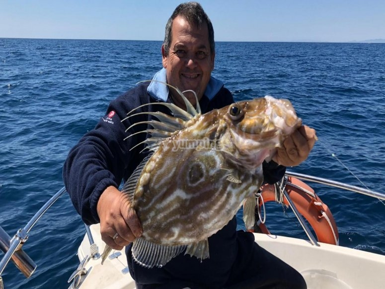 Realizando pesca al chambel