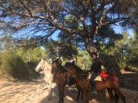 A caballo con amigos en Valencia