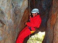 rappel en cuevas