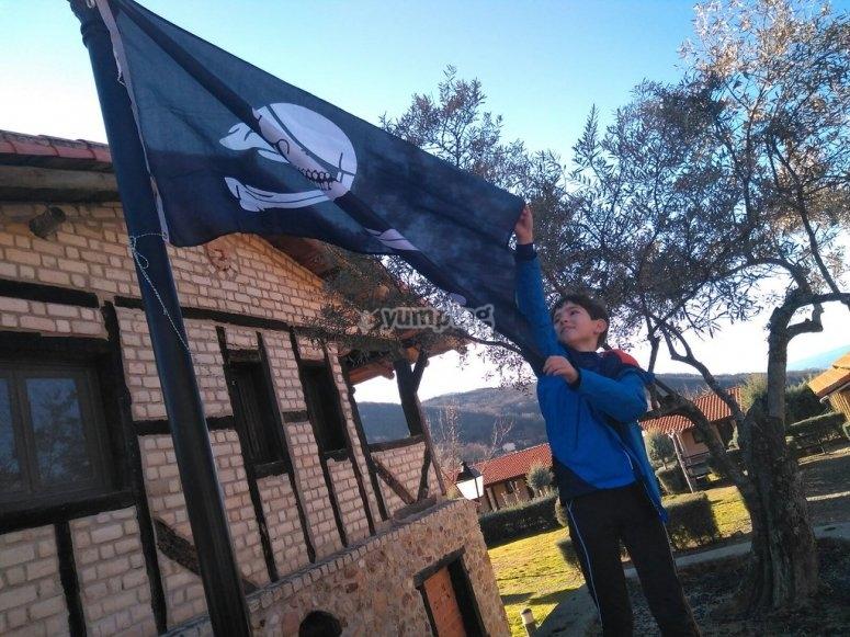 Izando la bandera