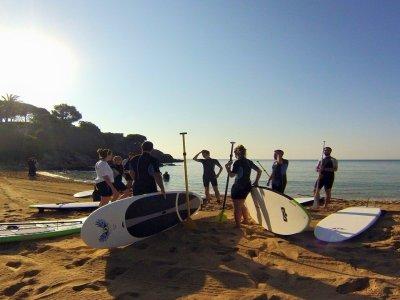 Palamós的1小时帆船冲浪课程