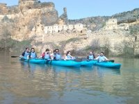 Guided tour on a kayak at Duratón river