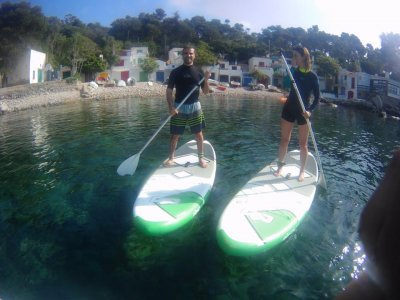 Improving paddle surf class in La Fosca 1h