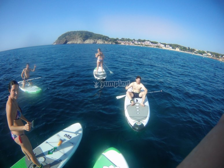 SUP tour to La Fosca in Palamós