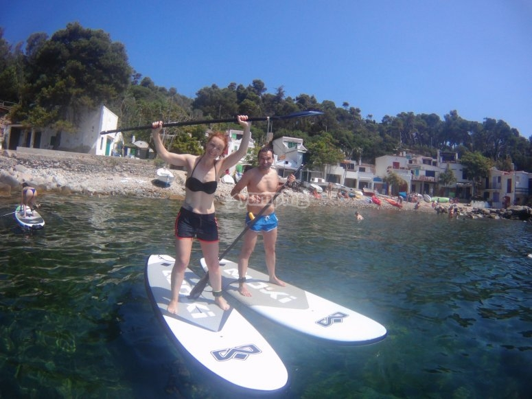 Paddle surf tour in pairs in Girona