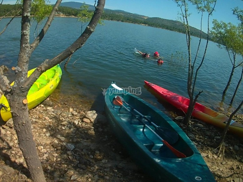 Alquiler kayak biplaza pantano de Burguillo