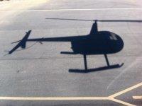 Sombra proyectada por helicoptero
