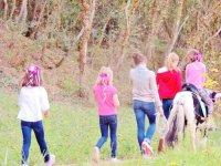 Children's activities in the horse race