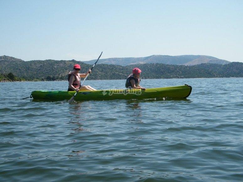 Alquiler de kayaks biplaza niños