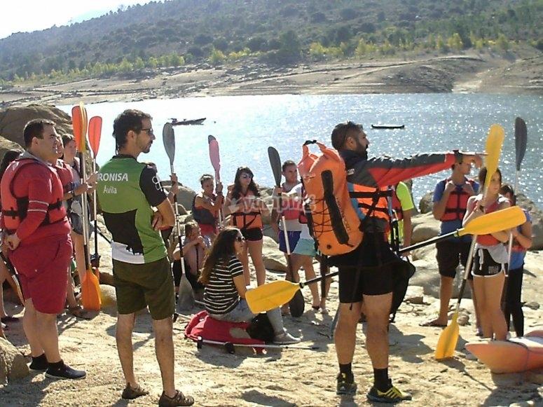 Alquiler 1 hora kayak en Burguillo