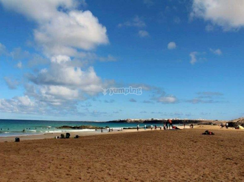 Playa de Corralejo en Fuerteventura