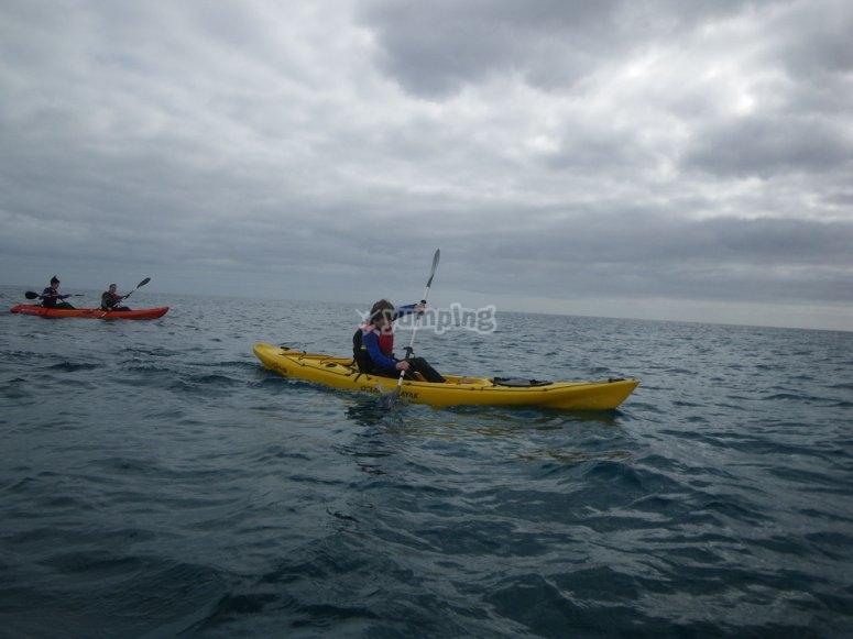 Curso para grupos de kayak Corralejo