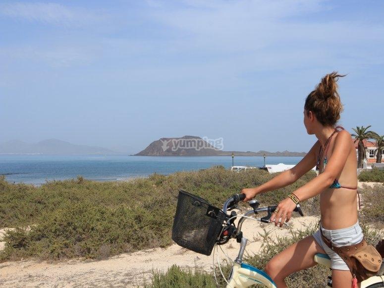 Alquiler de bicis de paseo en Corralejo
