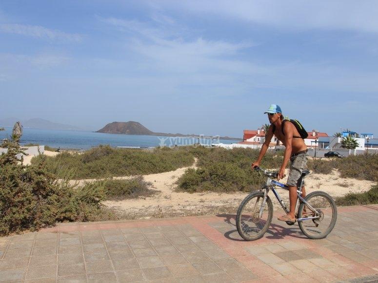 Recorrido en bici por dunas