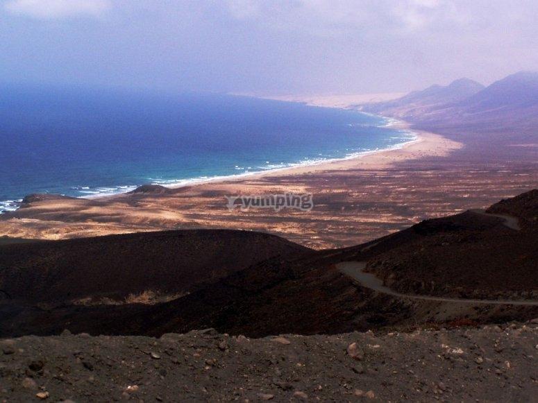 Tour en bicicleta volcán Fuerteventura