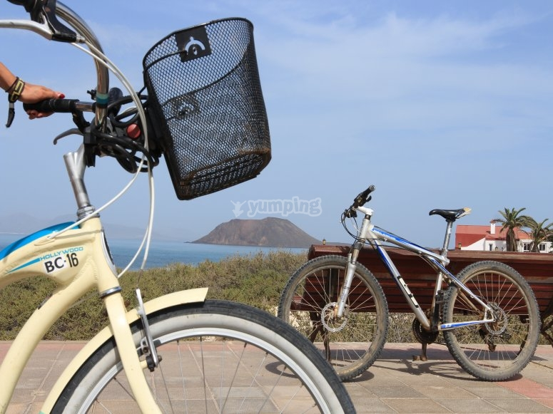 Ruta guiada en bicicleta Corralejo