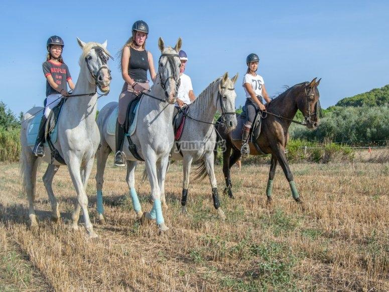 Paseo a caballo por Palamós