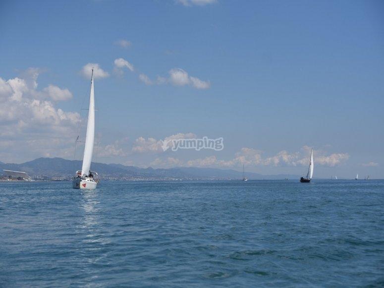 Paseo en velero Mediterráneo en pareja