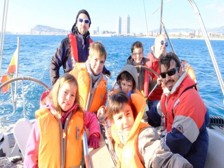 Salida en velero con la familia Barcelona