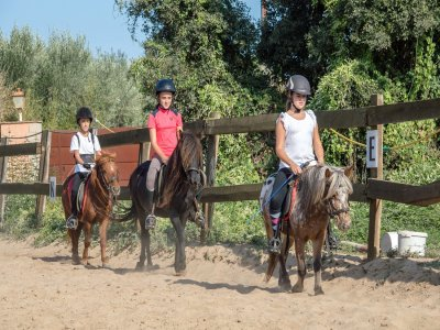 Children's b-day at riding centre Palamós