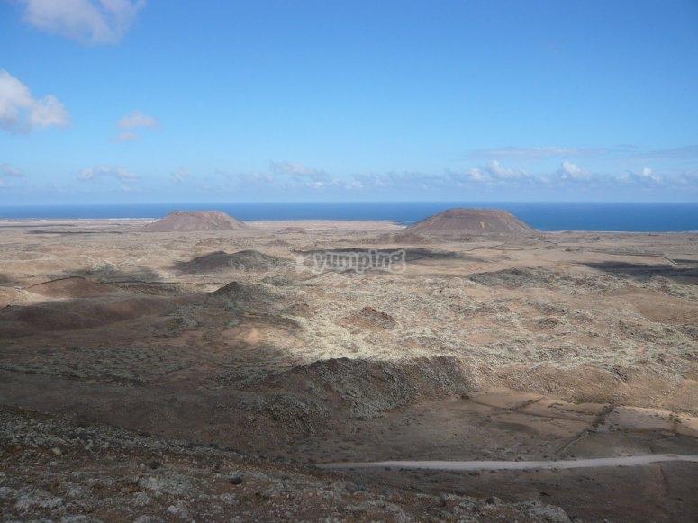Trekking por ruta de los volcanes Fuerteventura
