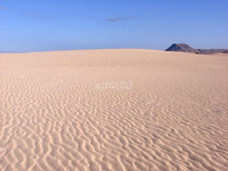 Dunas de arena en Fuerteventura