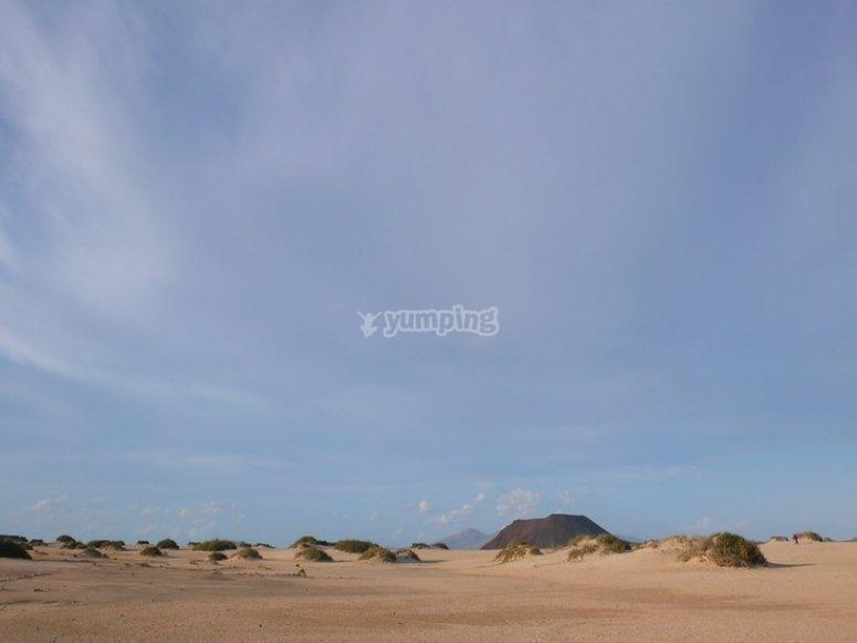 Trekking en camino de dunas Corralejo