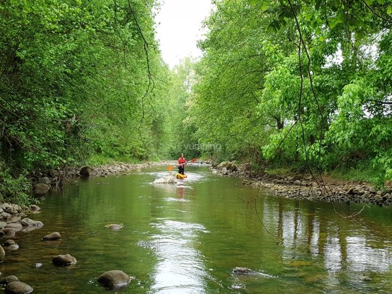 Excursión en canoa río Miera