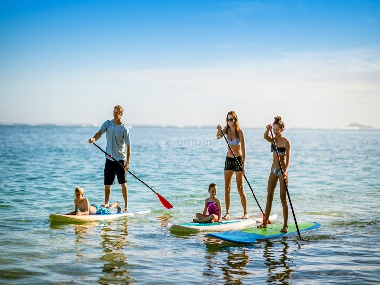 Paddle surfing course in Los Narejos