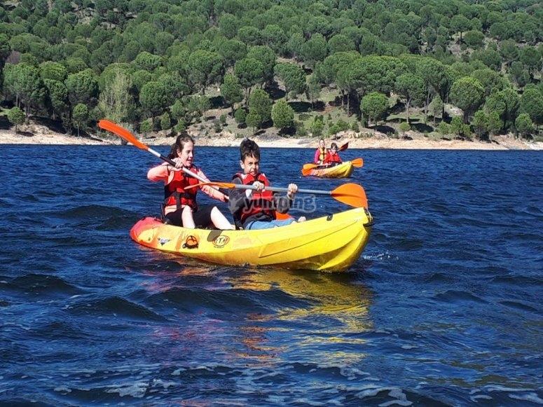 Canoa para niños pantano de San Juan