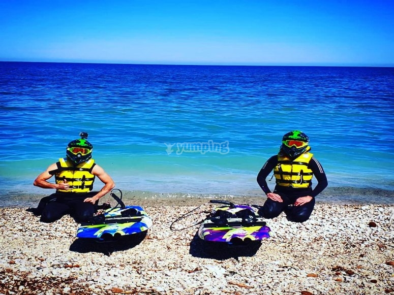 Jetsurf boards and complete equipment