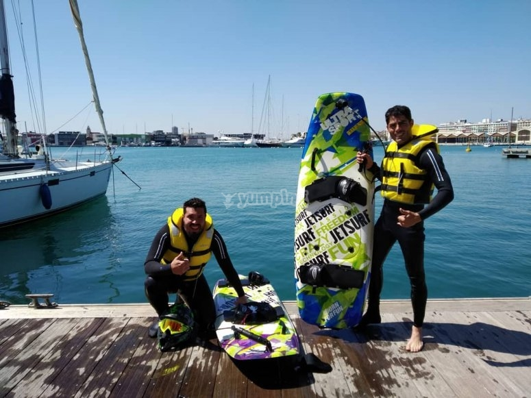 Jetsurf in the province of Alicante