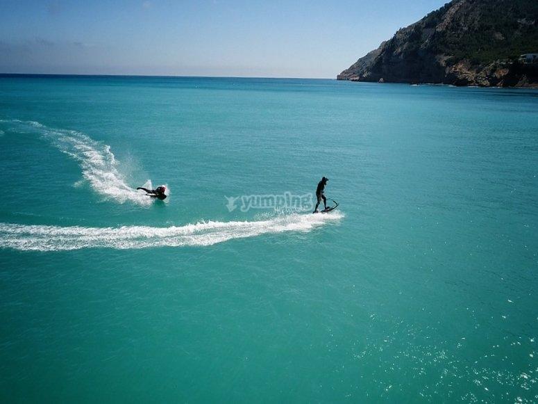 Salidas de jetsurf por Costa Blanca