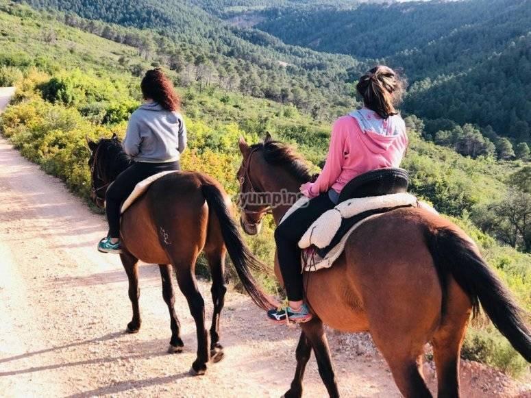 Paseo a caballo para 2 personas en Tarragona