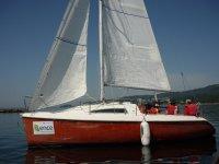 Aprendiendo a navegar en el campamento