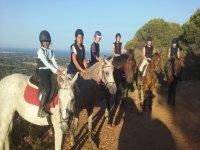 Horse riding through Sierra de Gandía