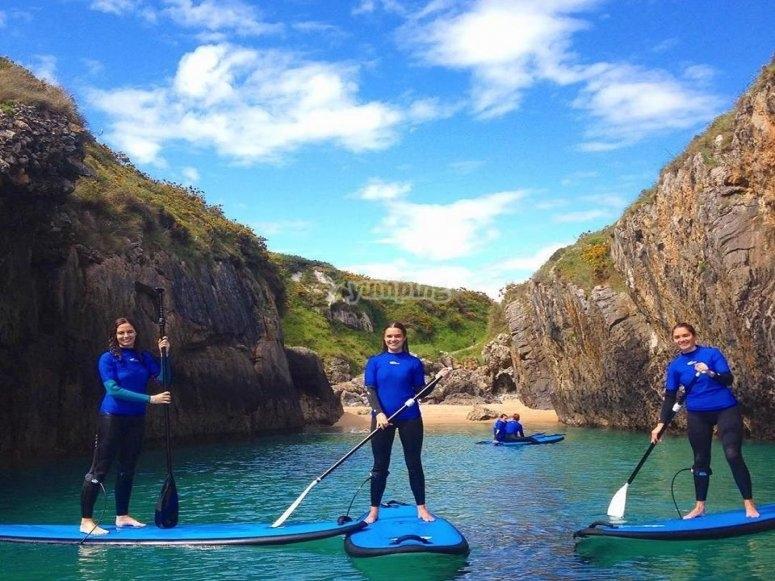 Percorso di paddle surf a Llanes