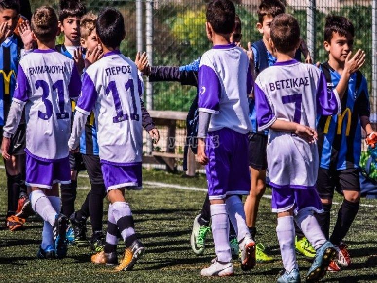 Equipos de fútbol desde los 4 años