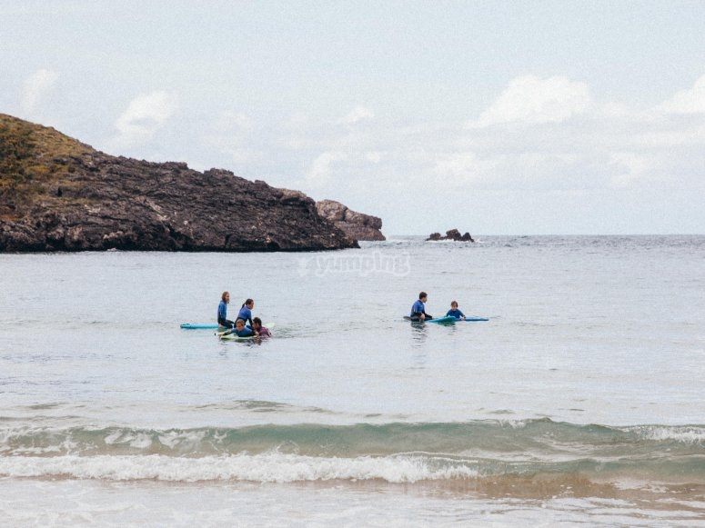 Iniciándose en el surf