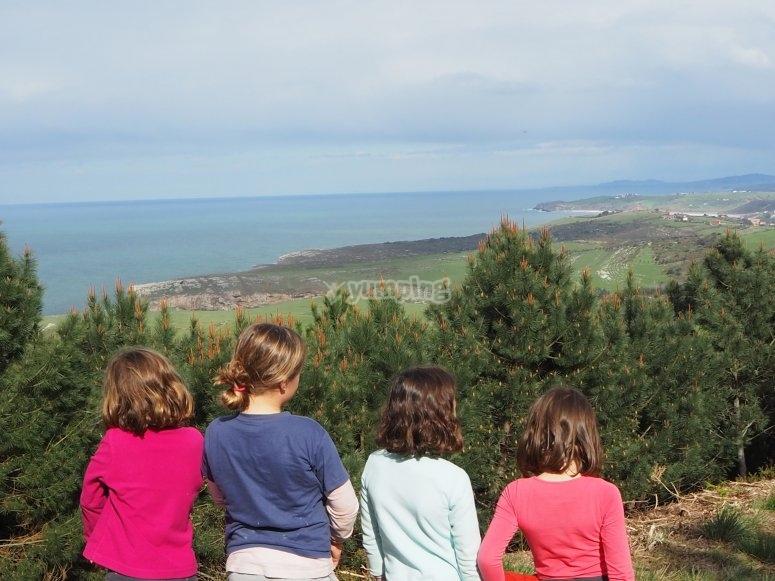 Vistas al mar excursión niños