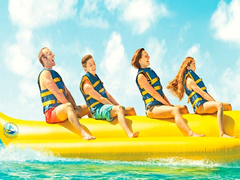 Banana boat en familia